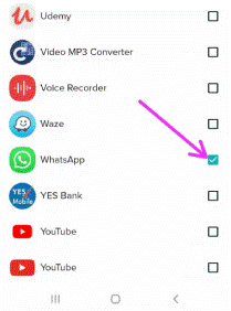 Enable Notification for WhatsApp